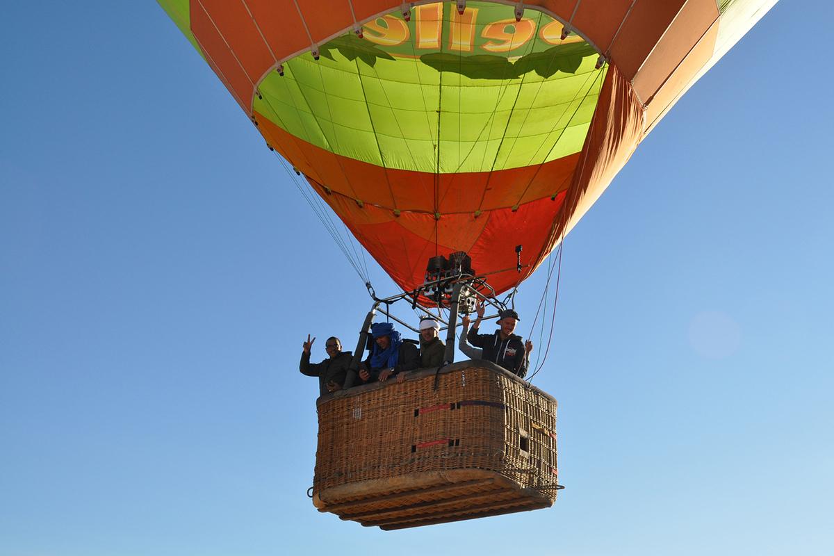 Envol de la montgolfière